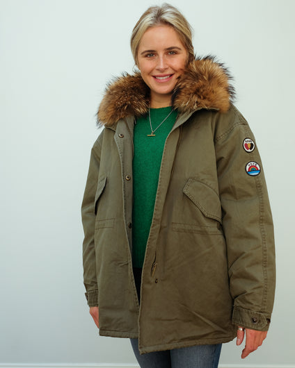FIVE 134 Alma parka in ivy green