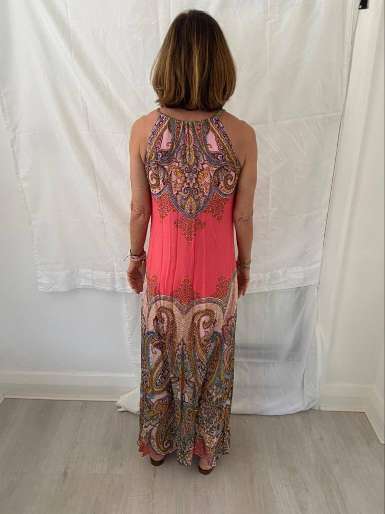 HB 6831 Maxi dress in coral