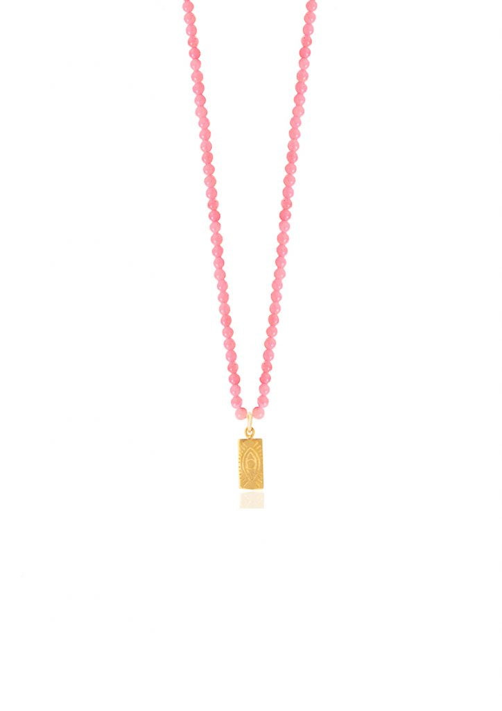 HERMINA Tag Pink Necklace