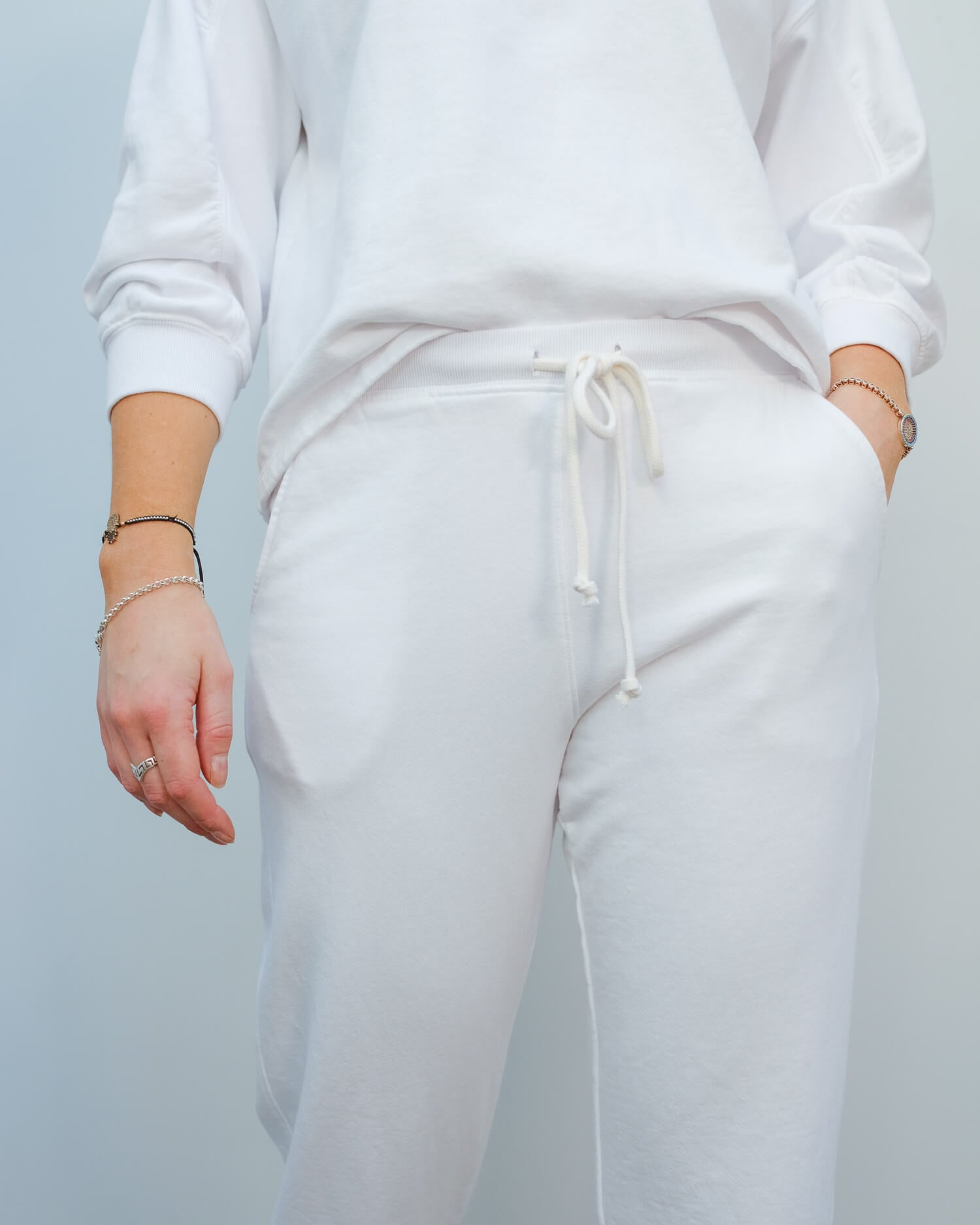V Bessy trousers in white