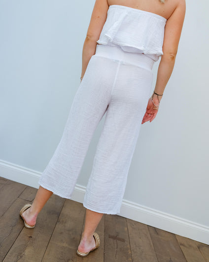 MSTARS Salma pant in white