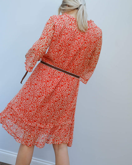 MOLIIN Lucia dress in sun tomato