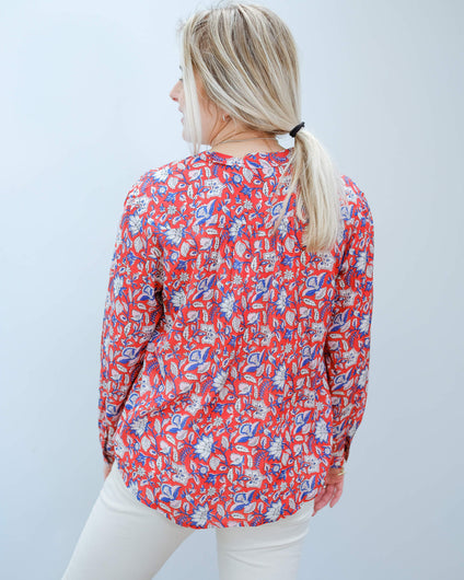 MOLIIN Christina shirt in sun tomato