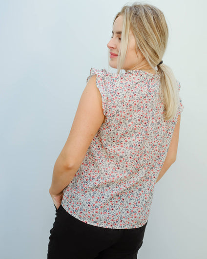 V Nolita top in poppy