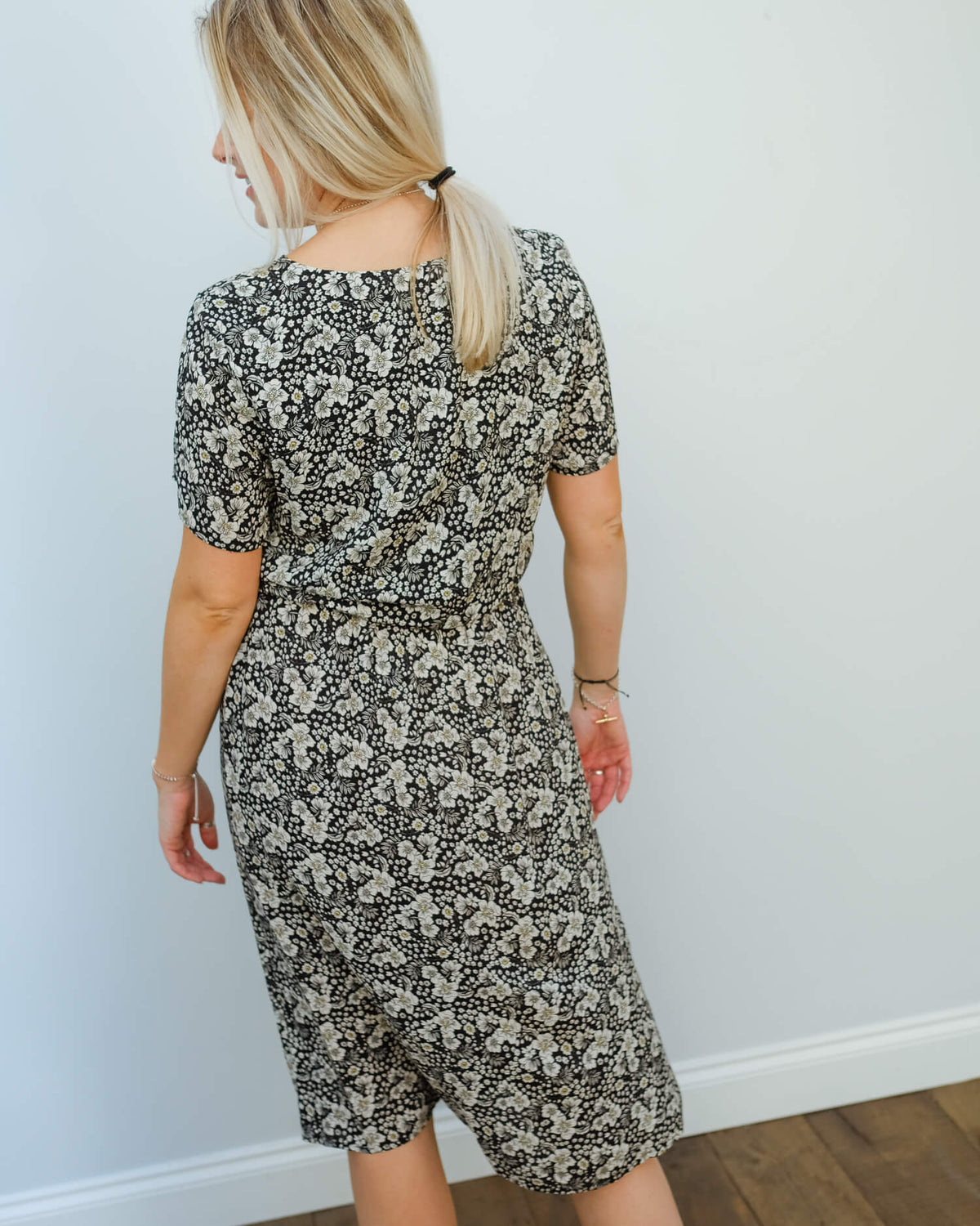 V Rona printed dress in crocus