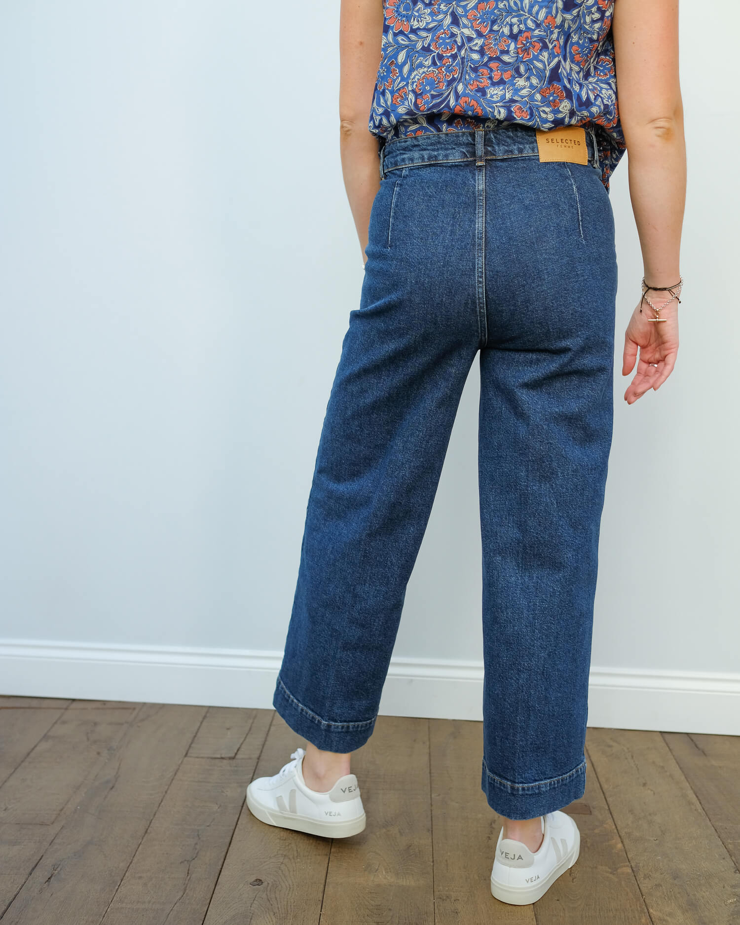 SLF Gene wide crop jeans in blue
