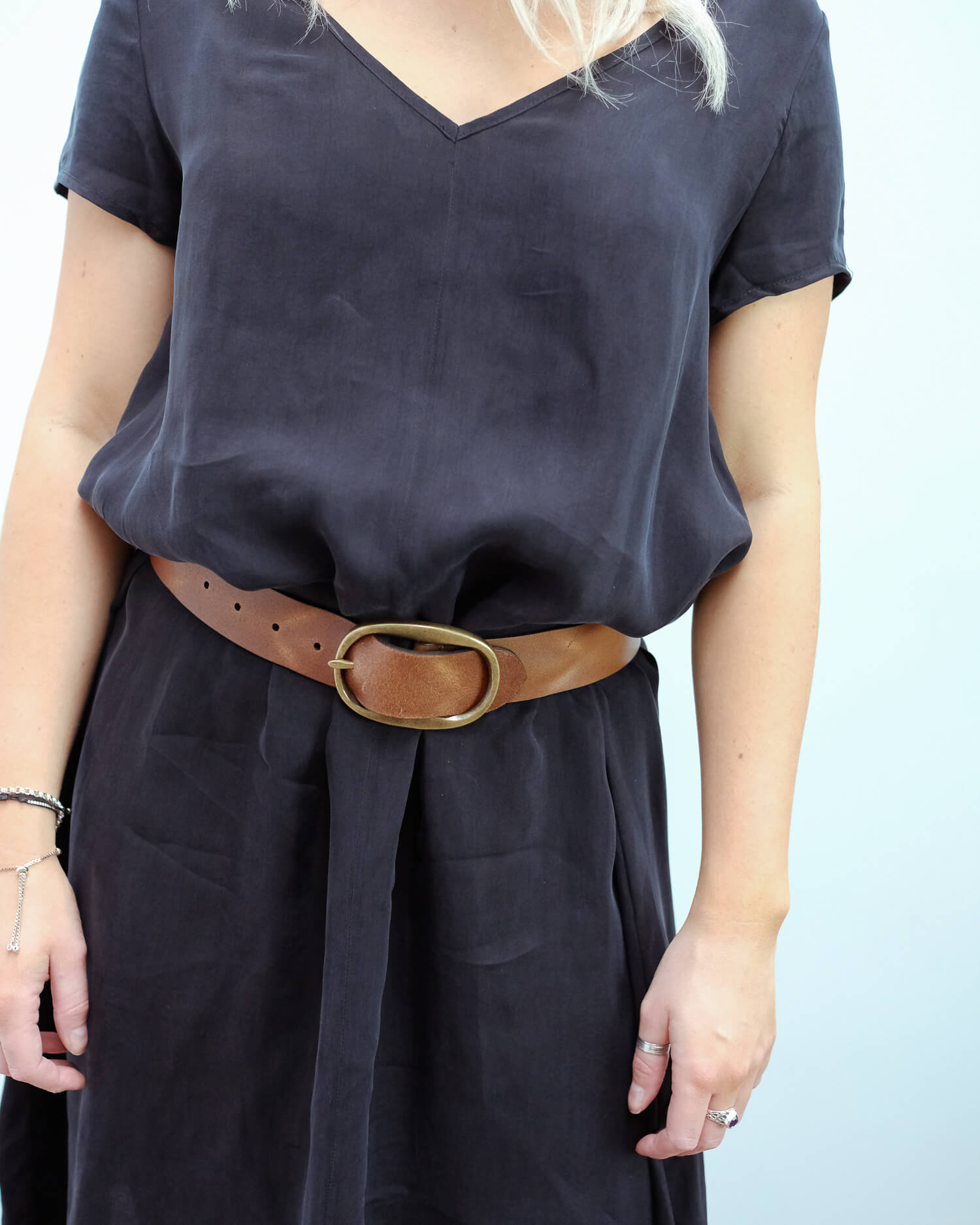 H Angus belt in brown