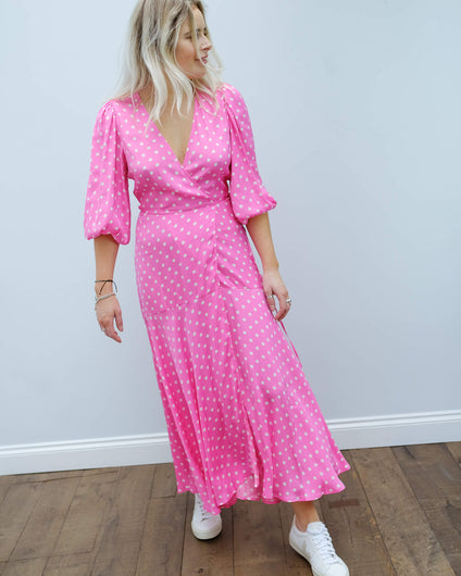 EA Vundamental long wrap dress in pink