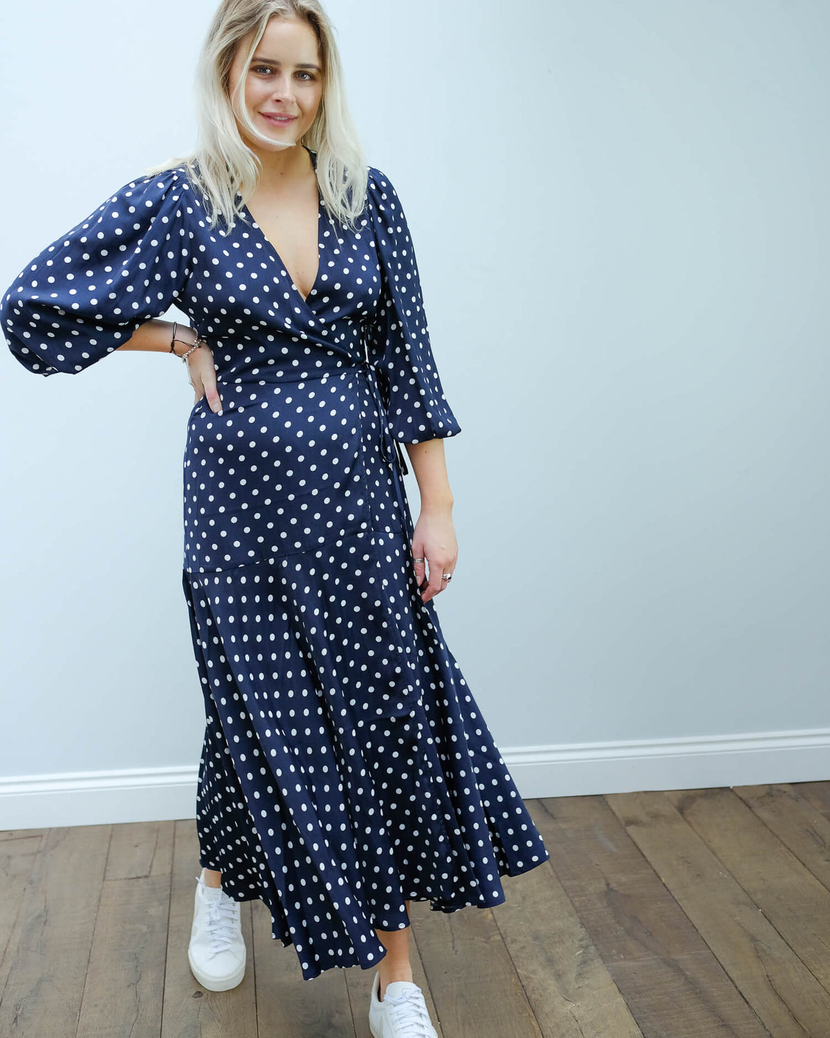 EA Vundamental long wrap dress in blue