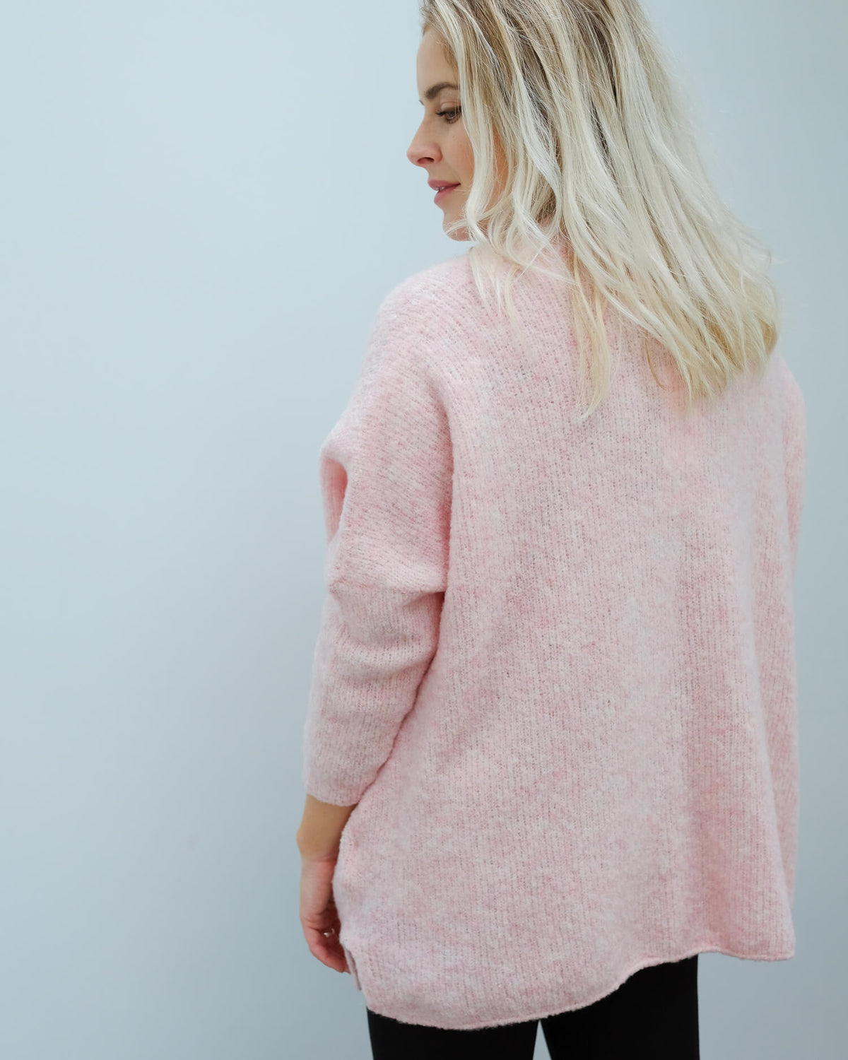 AV FOG272 LS open cardi in wild rose