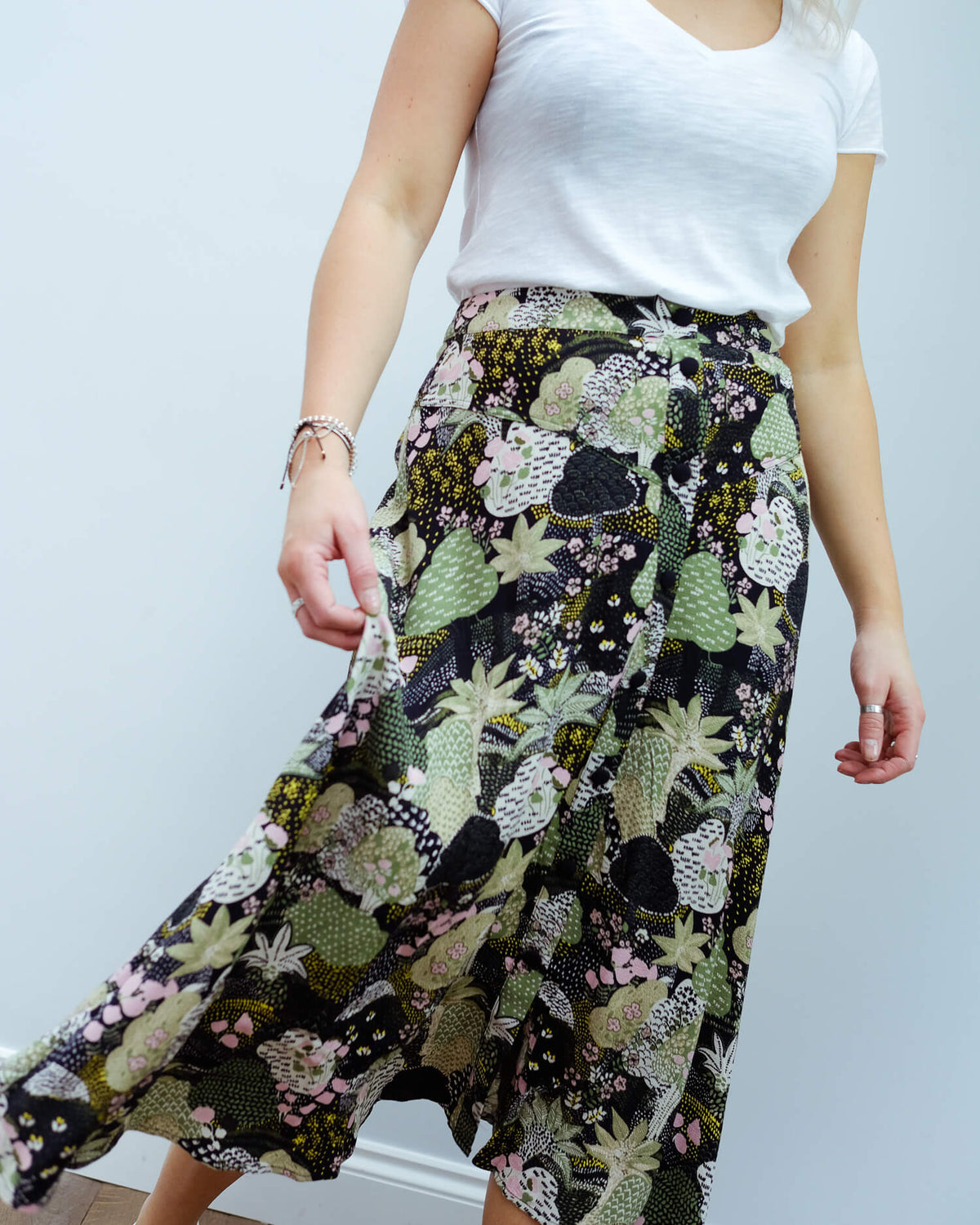 SLF Marina midi skirt in night sky