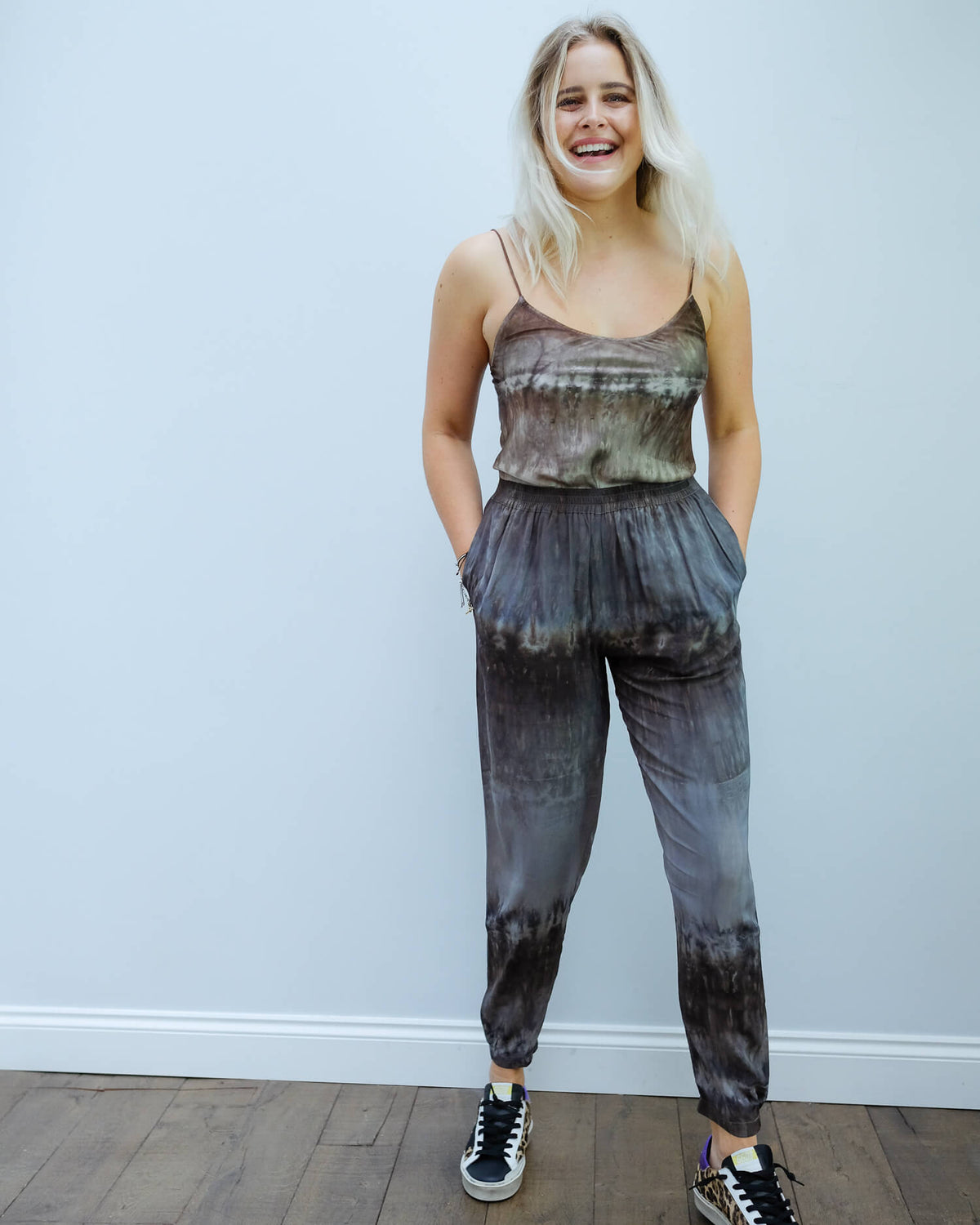 RS Madelene cuffed pants in charcoal