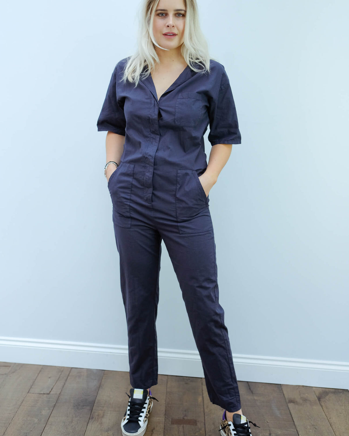 H Popi jumpsuit in charcoal