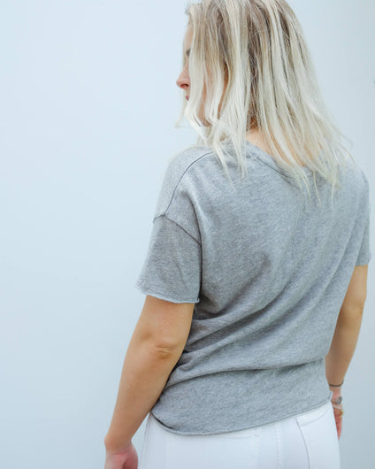 AV SON36B SS tee in grey chine