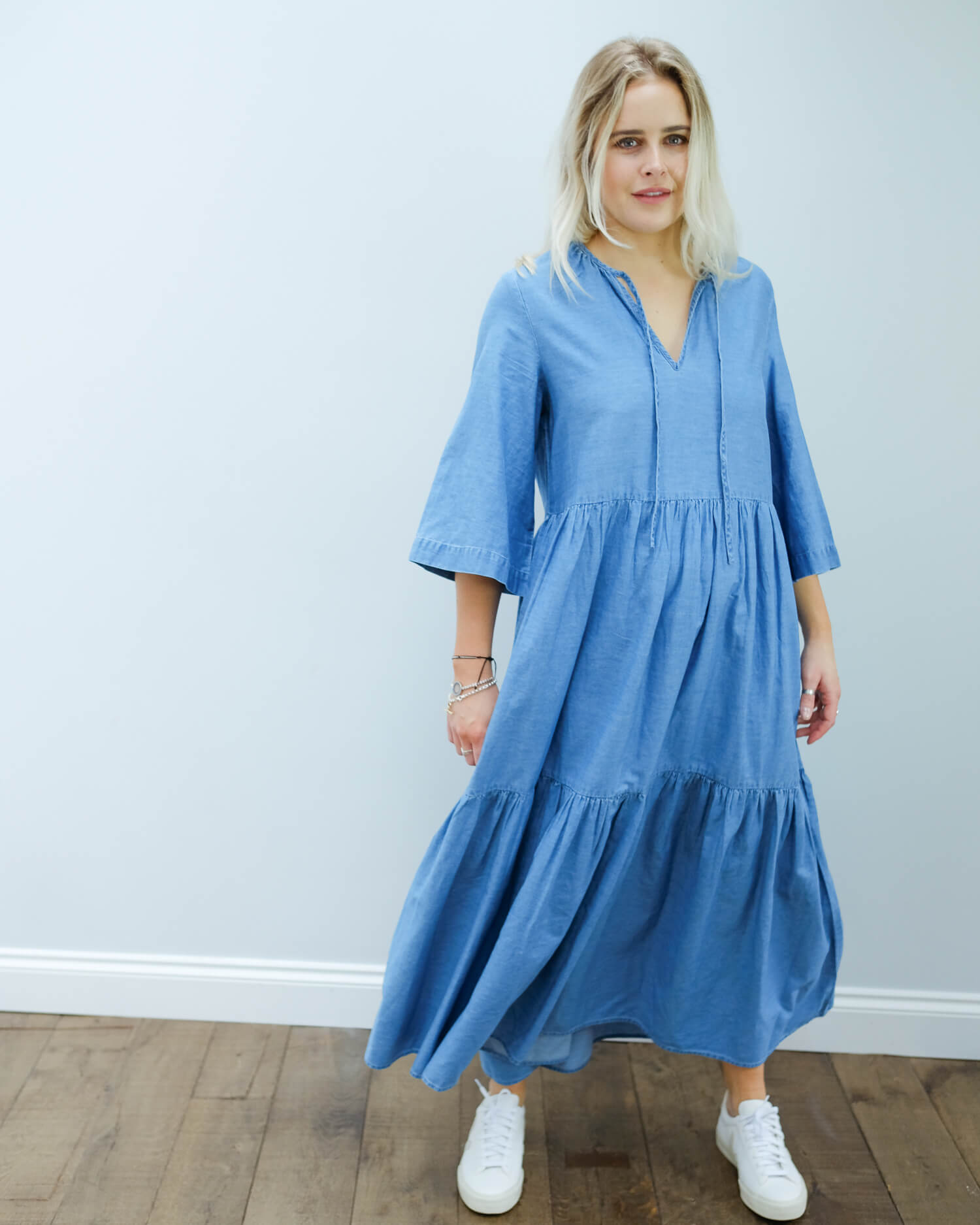 SLF Joy ankle dress in blue