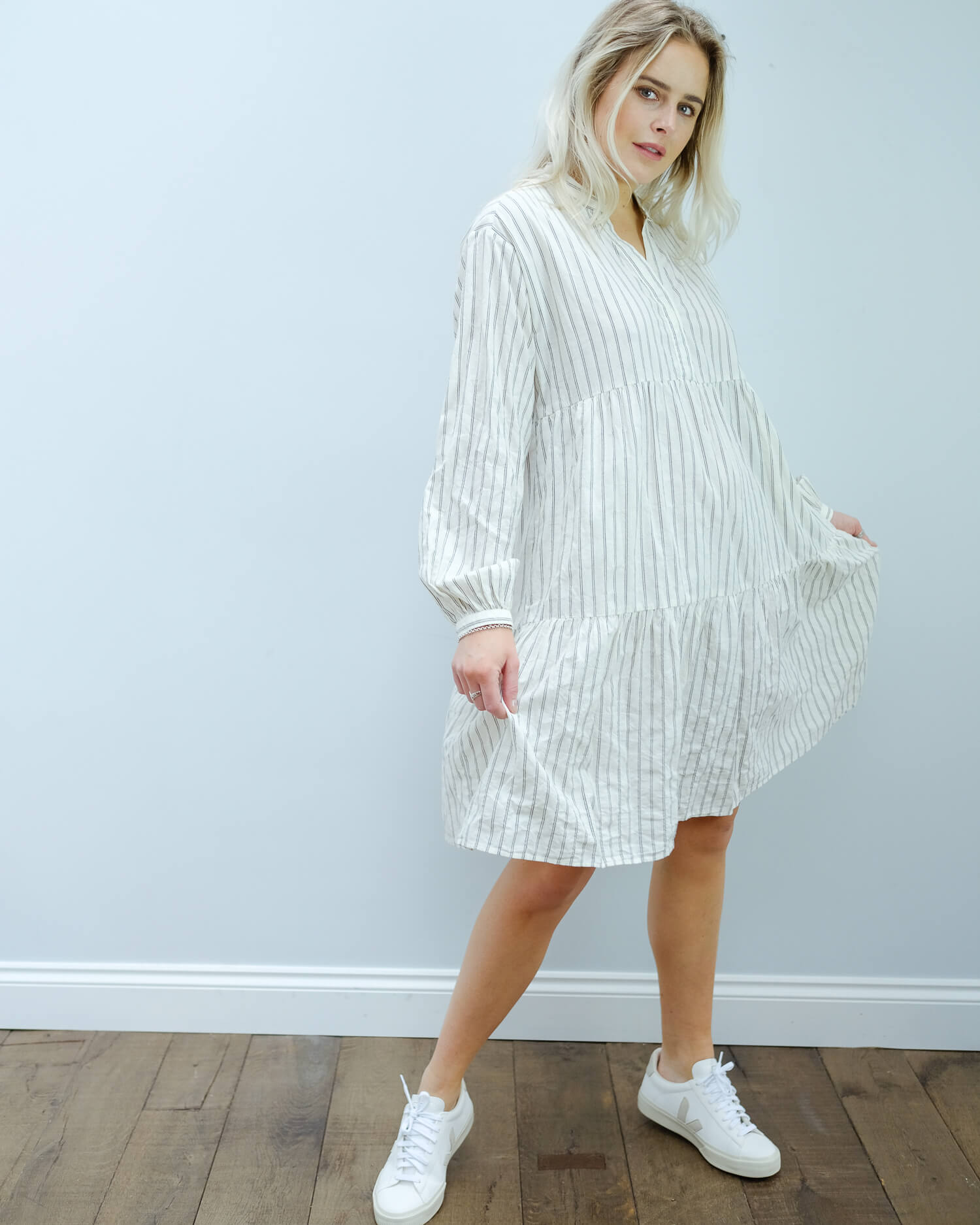 H Roanna dress in coconut