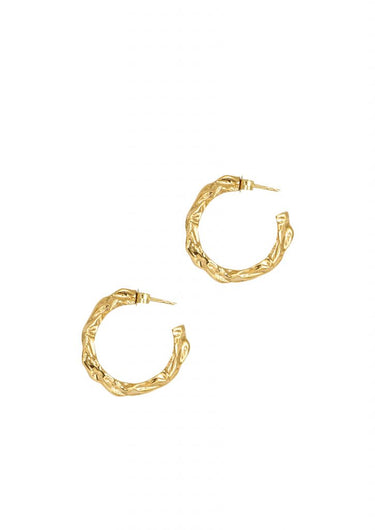 HERMINA Full moon hoops