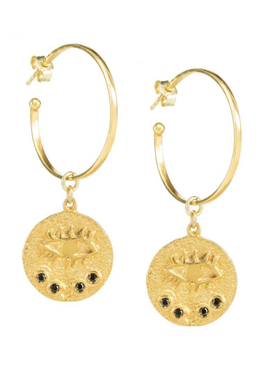 HERMINA Kressida hoop earrings
