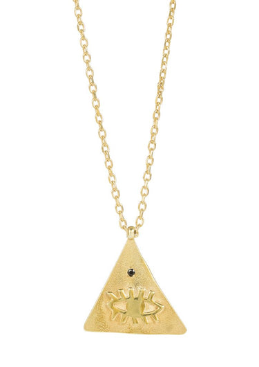HERMINA Kressida large pyramid pendant in black