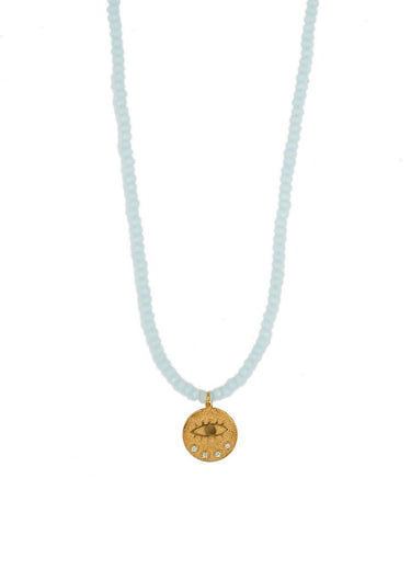 HERMINA Mini Kressida Turquoise Crystal Necklace