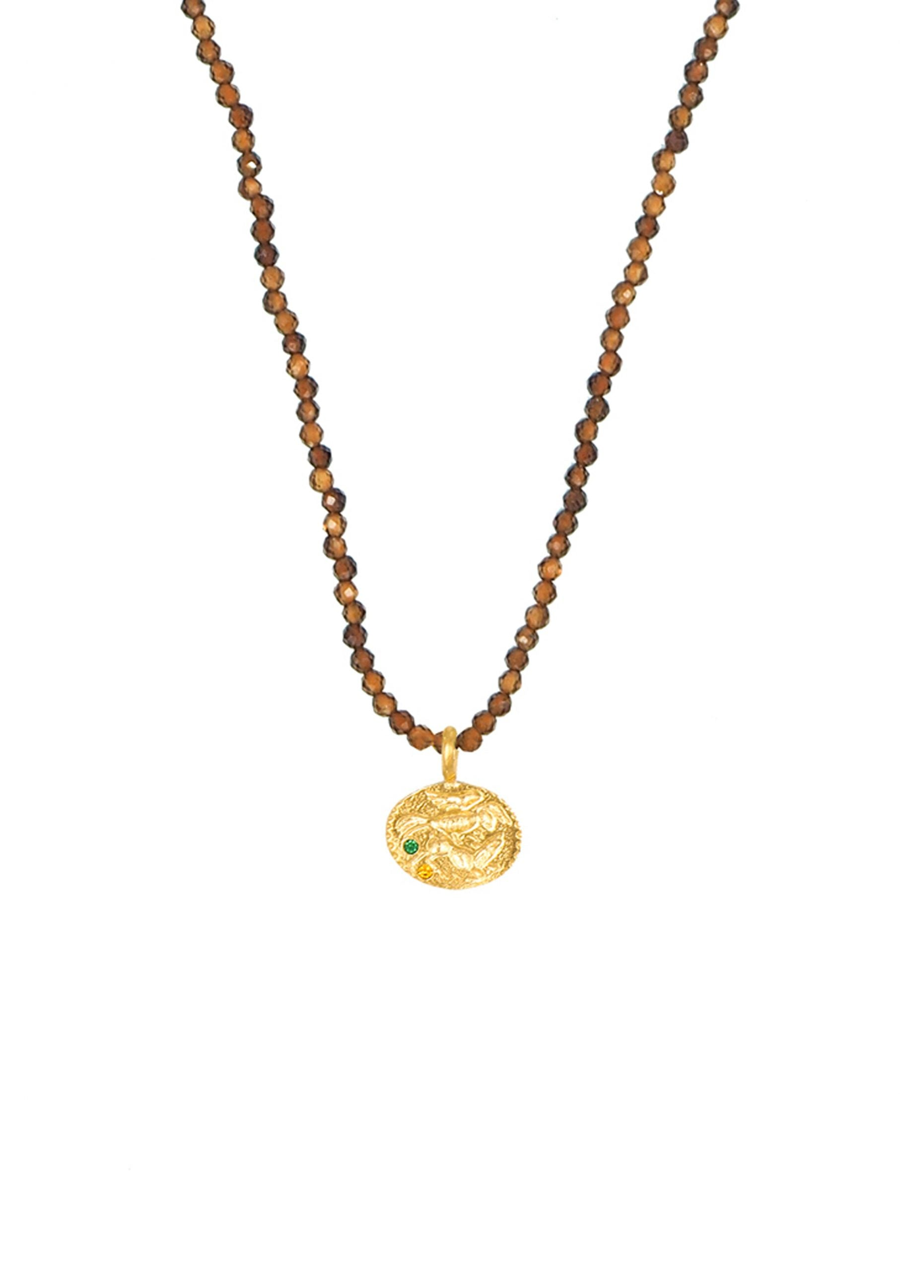 HERMINA Sealstone Animal Moca Necklace