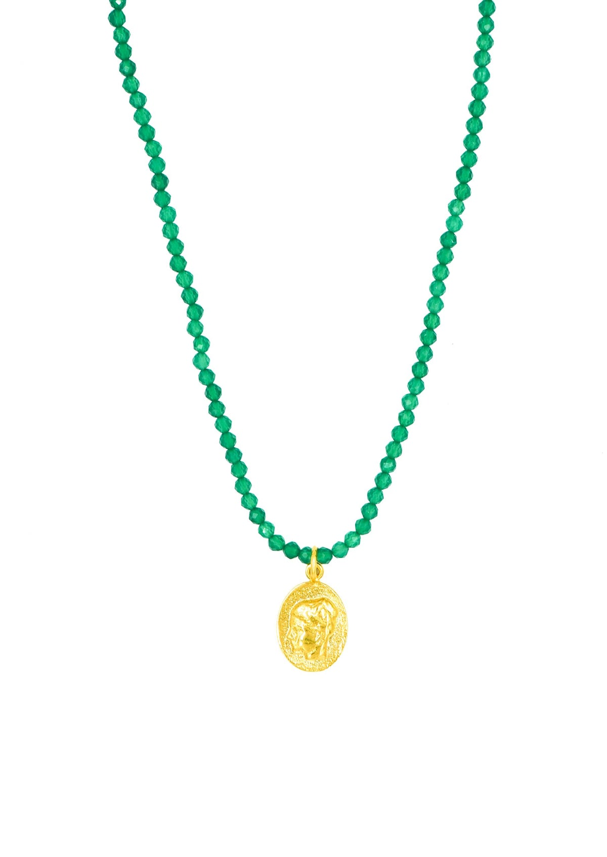 HERMINA Ygeia Emerald Necklace