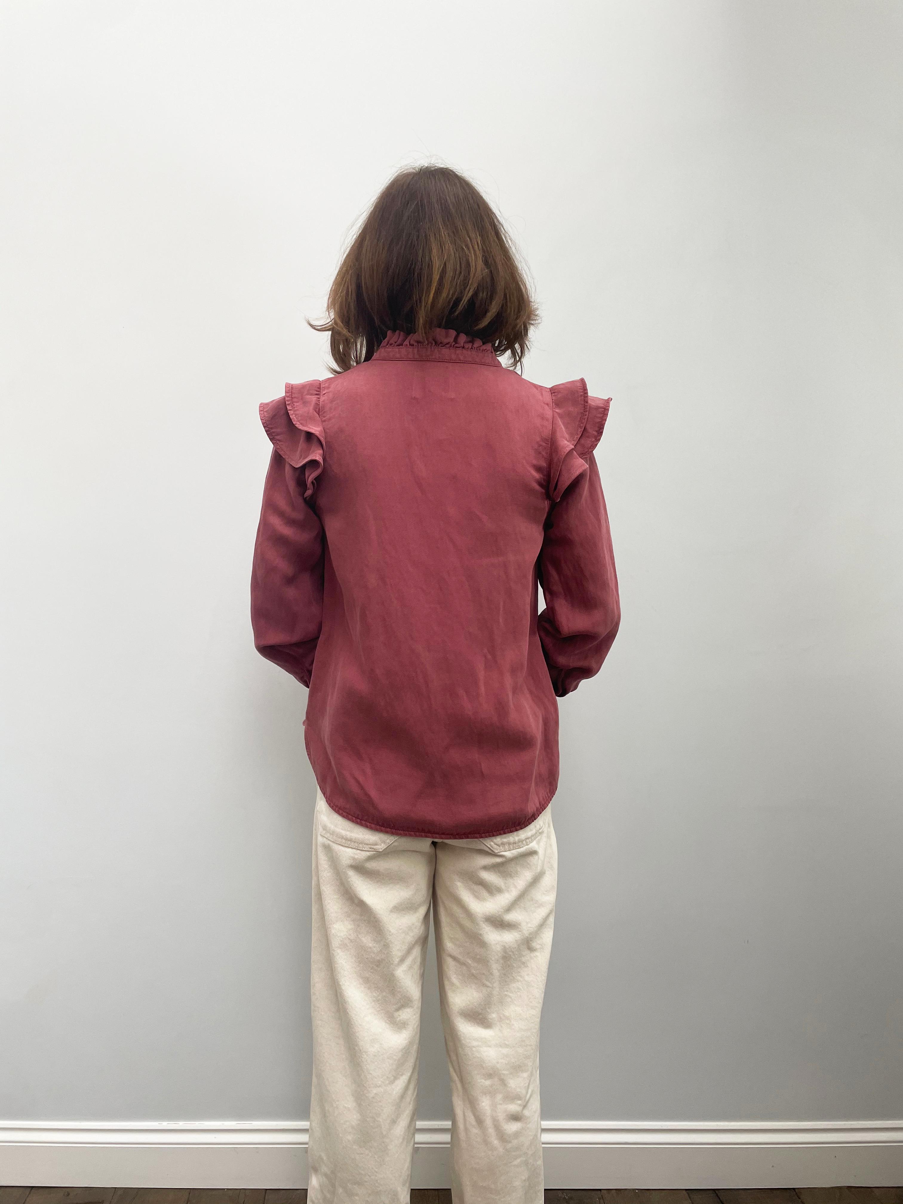 SEC.F Bella Shirt in Roan Rouge