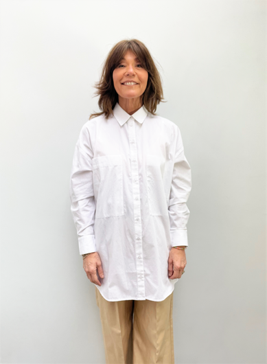 SLF Lali Pocket Shirt in White