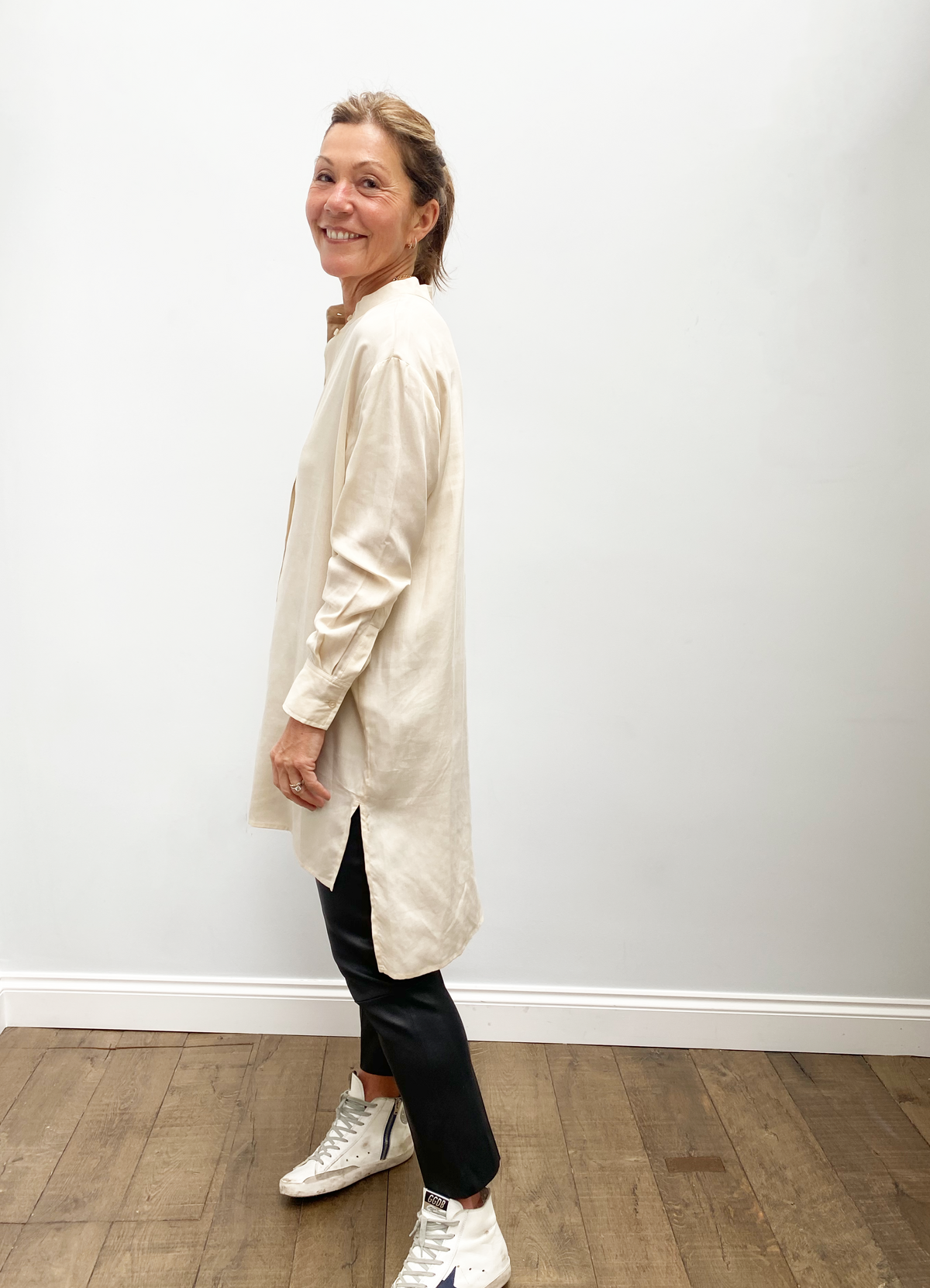 SLF Romena LS long shirt in sandshell