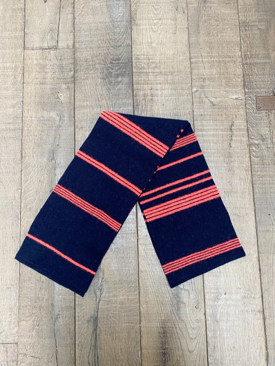 MACKIE Lorn scarf in navy, orange