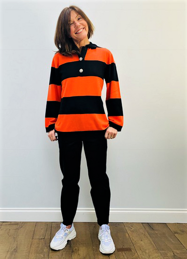 GANNI K1447 Cashmere Striped Knit in Multi