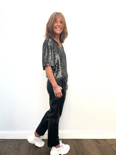 VELVET Honey Vegan Leather Pant in Black
