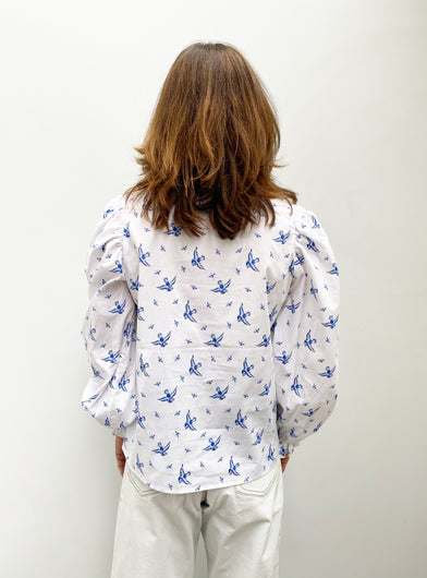 M Tosca Printed Blouse in Blue