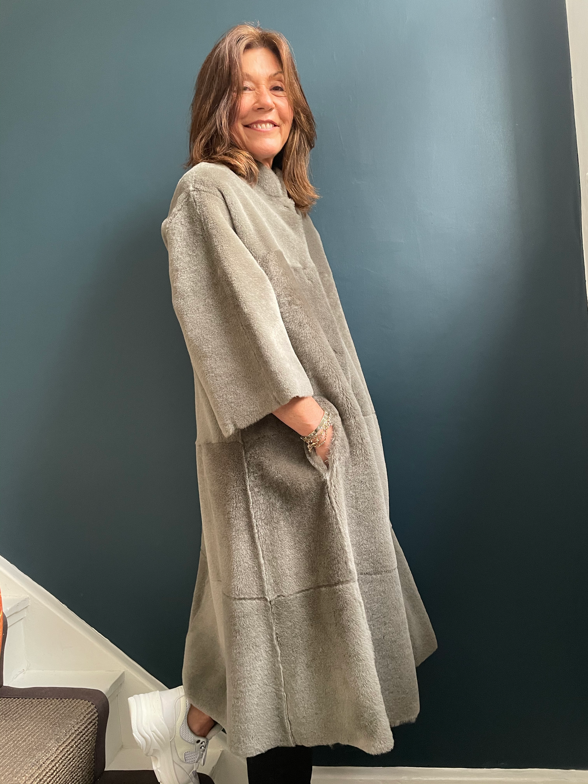 SW Rachel Swing Coat in Sage