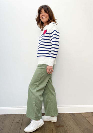 FIVE Lucia Trousers in Oil Green