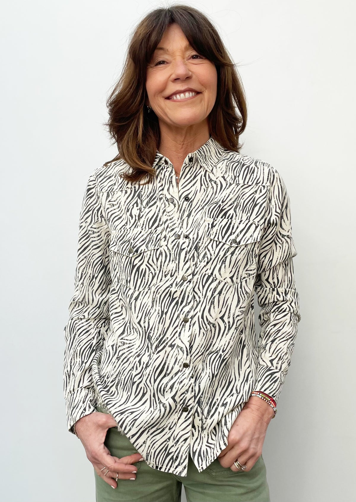 FIVE Ana Animal Print Shirt