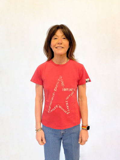 GG Ania Star Tee in Tango Red