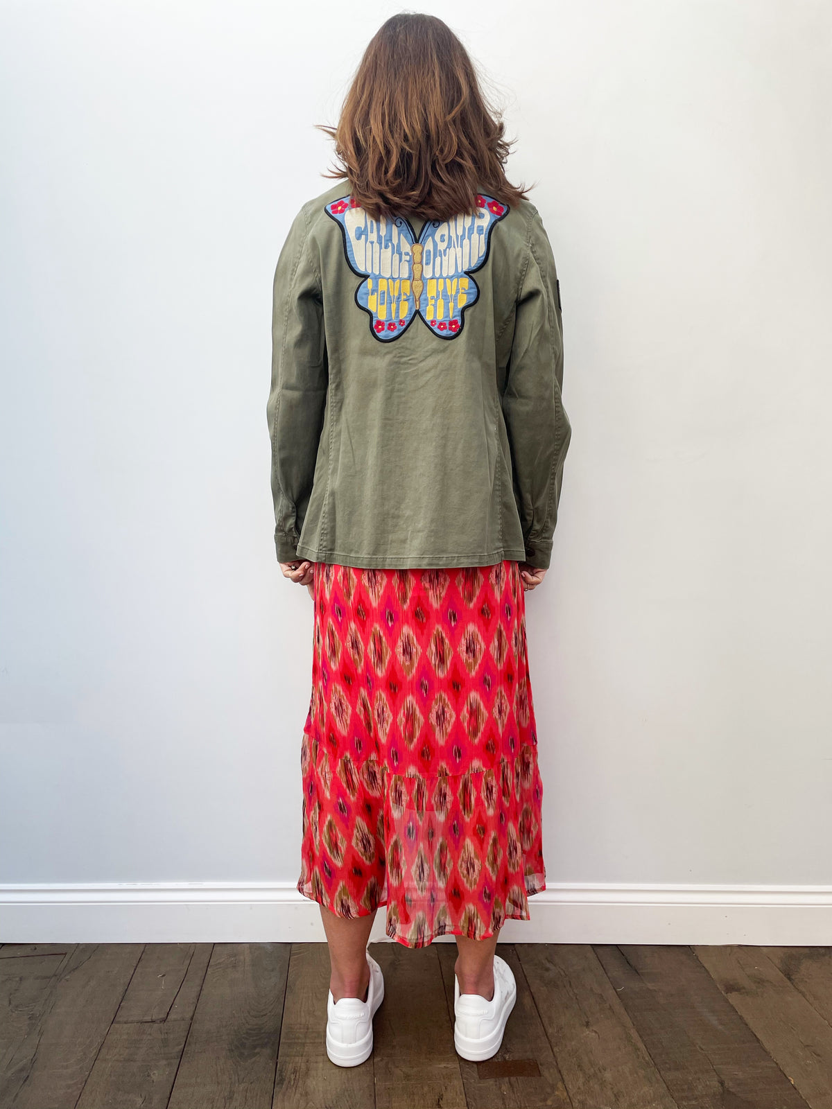 FIVE Brenda Jacket with Embroidery in Khaki