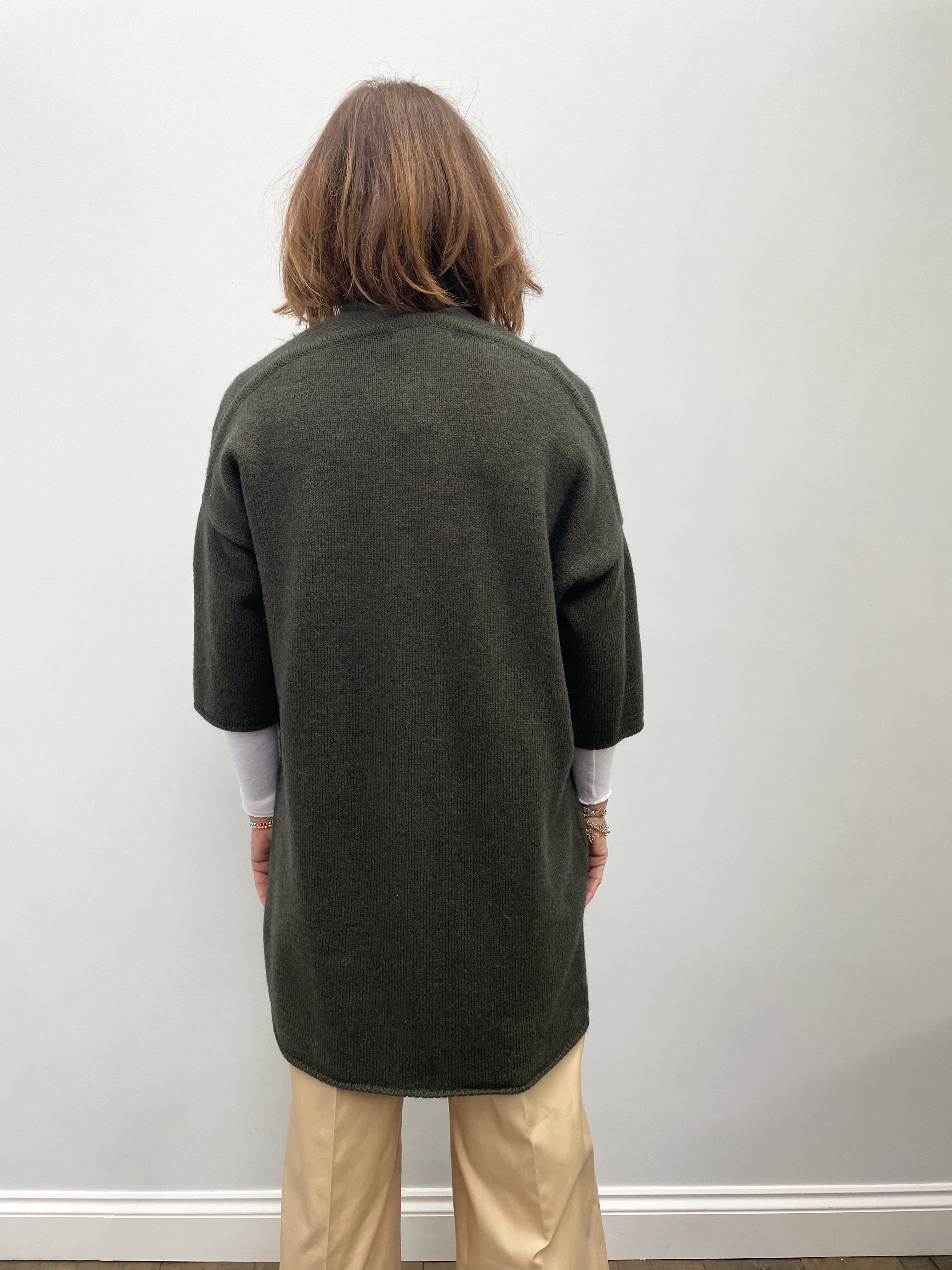 SIBIN Cali knit cardi in army green