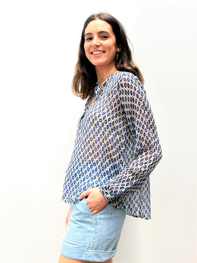 MOLIIN Ursula Blouse in Princess Blue