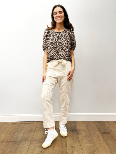 SEC.F Selene Track Trousers in White Swan
