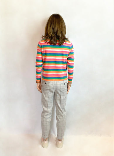 JU Mini Stripe Crew in Multi