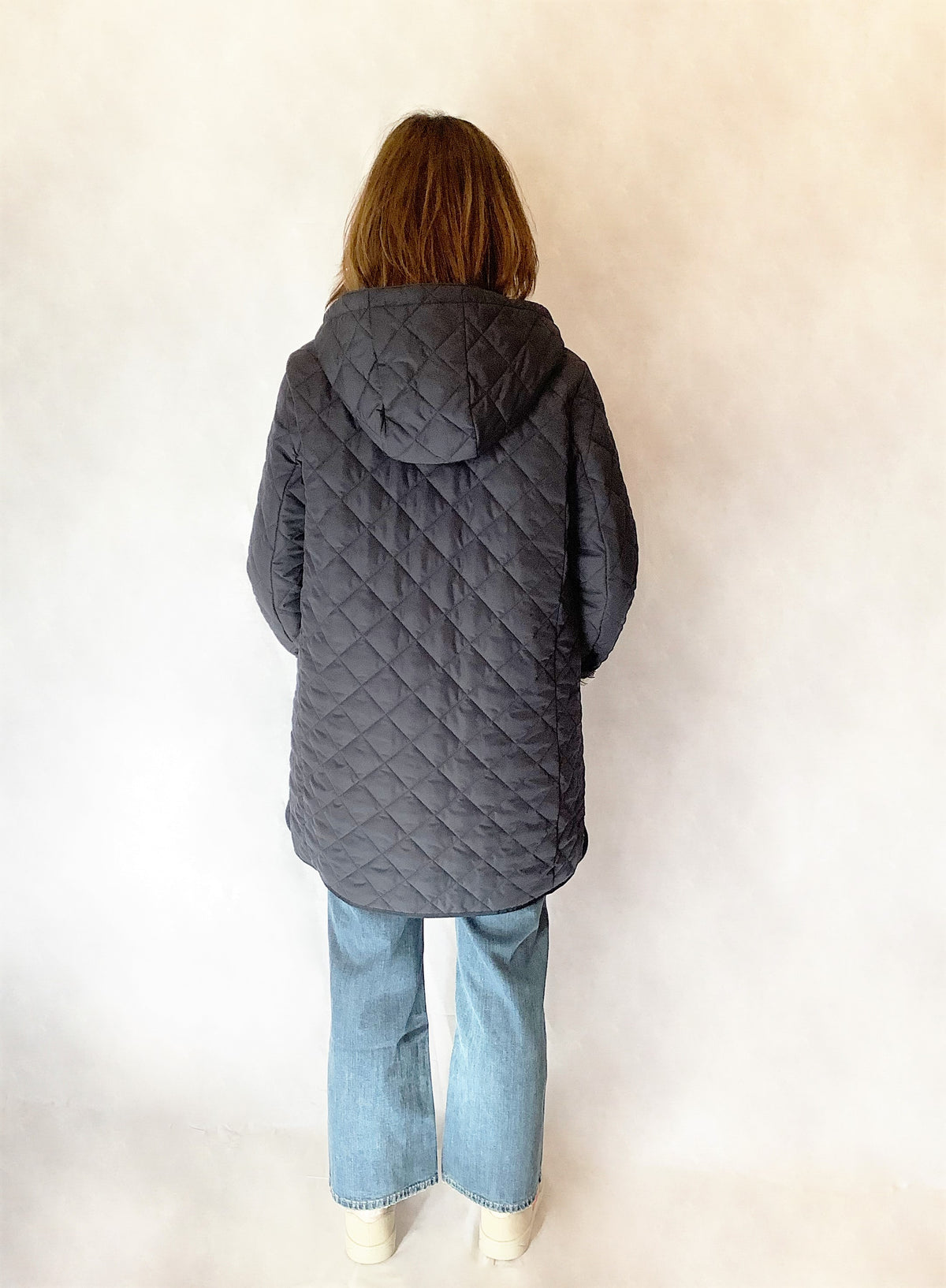MM Erio Padded Coat in Blue