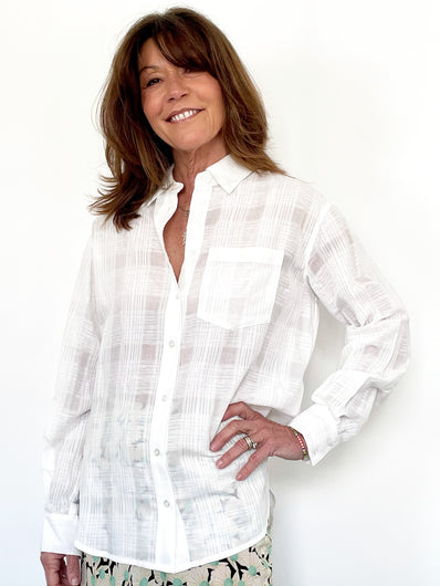 VB Keiko Button Down Shirt in White