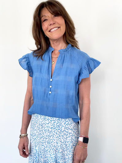 VB Milly Shirt in Blue