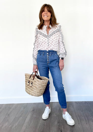 VB Abra Blouse in White