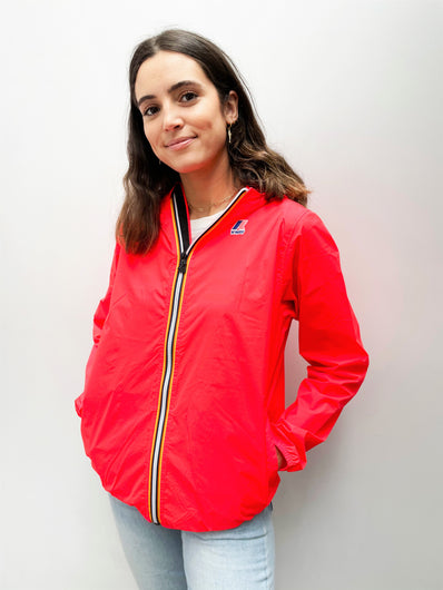 K-WAY Le Vrai Claude Jacket in Red Fluo