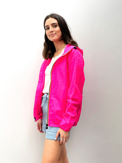 K-WAY Le Vrai Claude Jacket in Pink Fluo