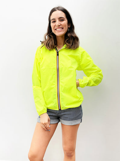 K-WAY Le Vrai Claude Jacket in Yellow Fluo