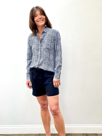 RAILS Josephine Shirt in Blue Lynx
